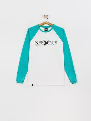 Longsleeve Nervous Classic (aqua/white)
