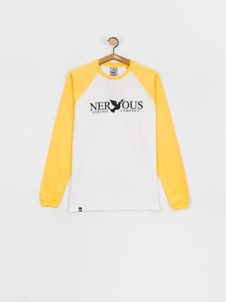 Longsleeve Nervous Classic (yellow/white)