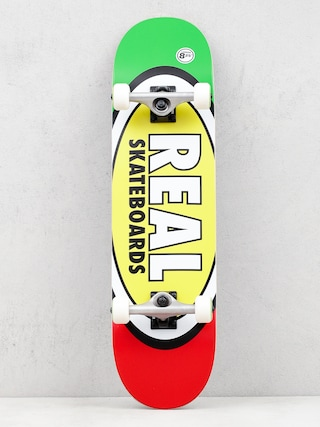 Deskorolka Real Tm Edition Oval (green/yellow/red)