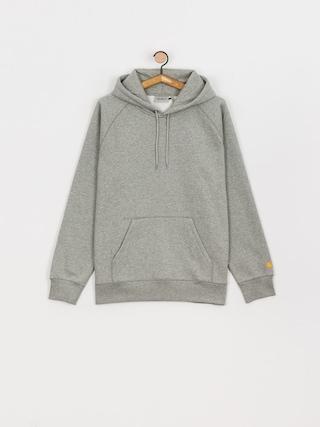 Bluza z kapturem Carhartt WIP Chase HD (grey heather/gold)