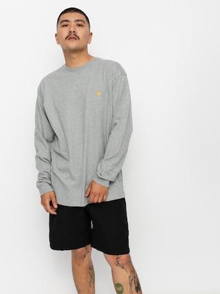 Longsleeve Carhartt WIP Chase (grey heather/gold)