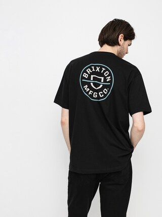 T-shirt Brixton Crest II (black/marine blue)