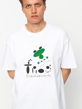 T-shirt Frog Skateboards My Brain is Fried (white)