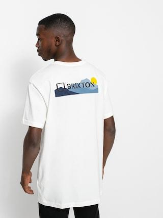 T-shirt Brixton Alpha Block Tlrt (mountain off white)