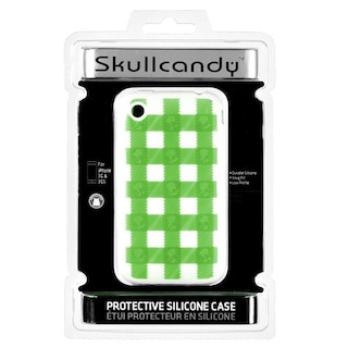Pokrowiec na iPhona 3G/3GS Skullcandy Soft Sleeve (plaid lime)