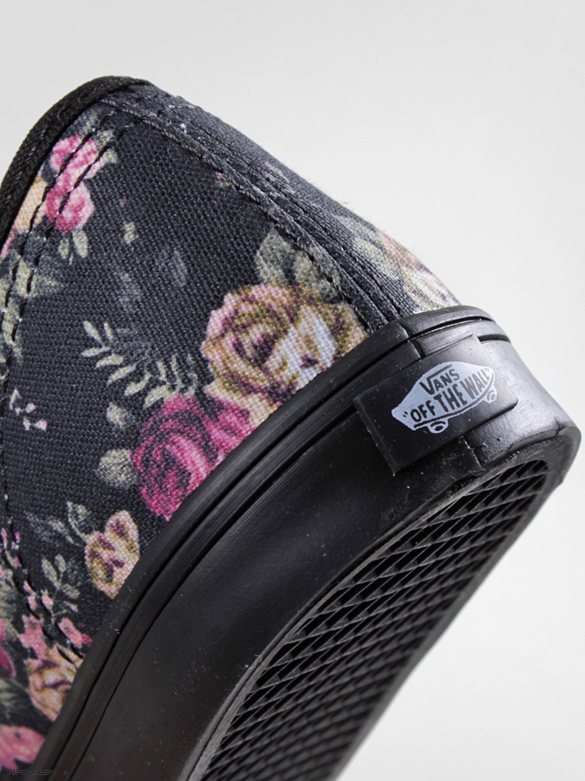 5481310ffd65e3 Buty Vans Authentic Lo Pro Floral Wmn (black black)