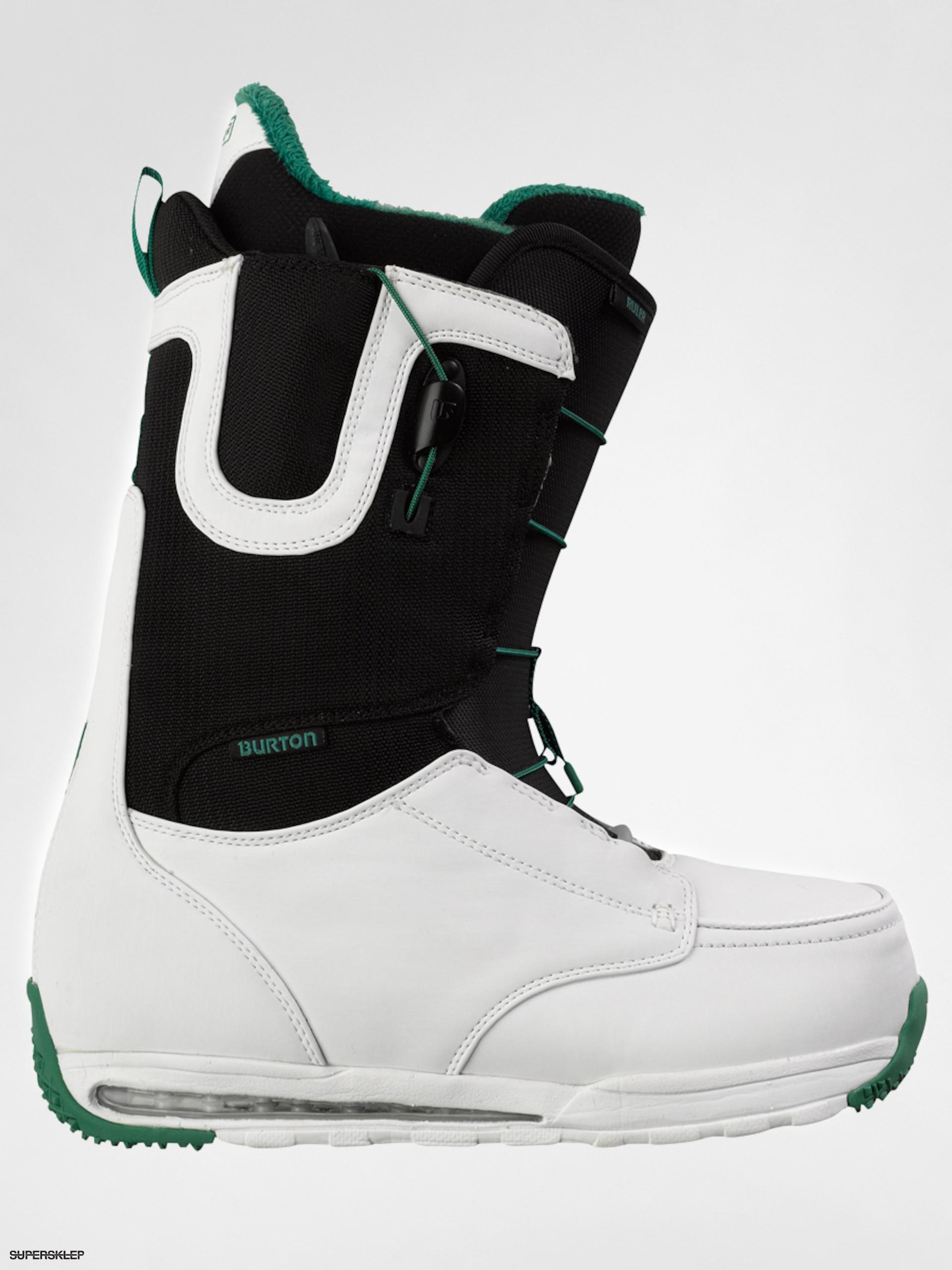 buty snowboardowe męskie burton ruler white black green
