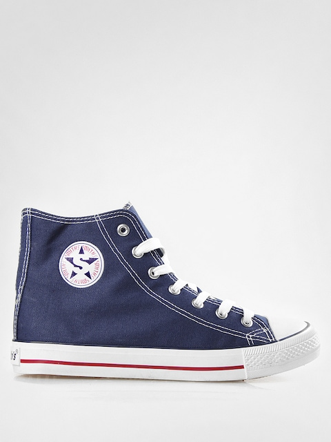 Trampki Smith's Wysokie (navy02)