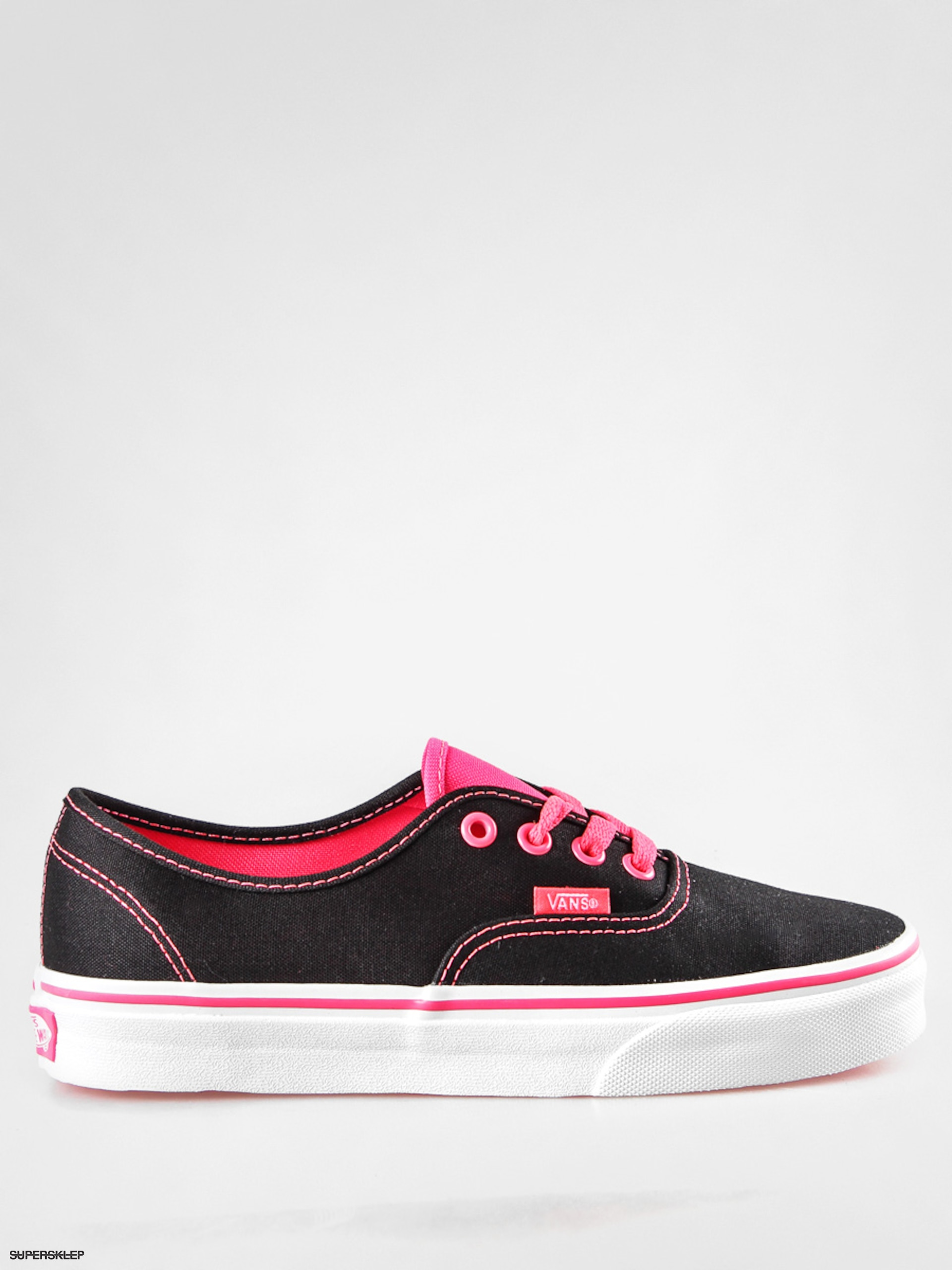Buty Vans Authentic (popblackneon red)