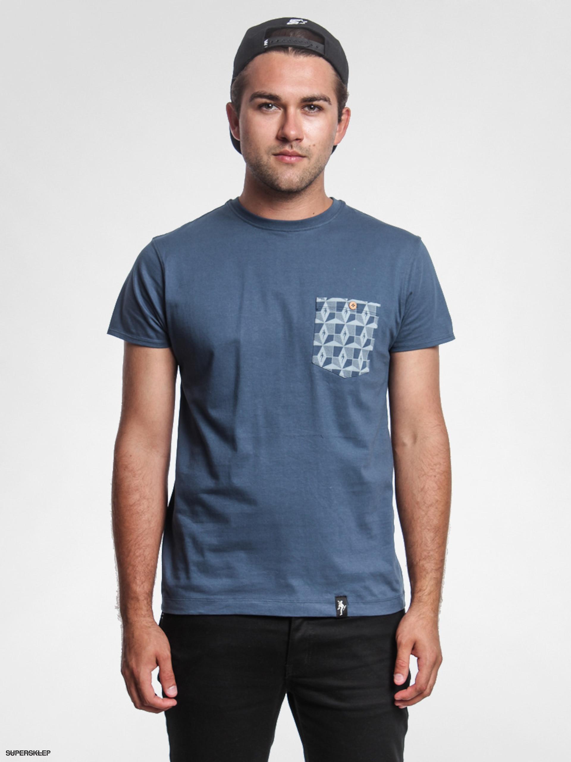 b37d6a66249a T-shirt Dirty Velvet Geo Pocket (rebel blue)