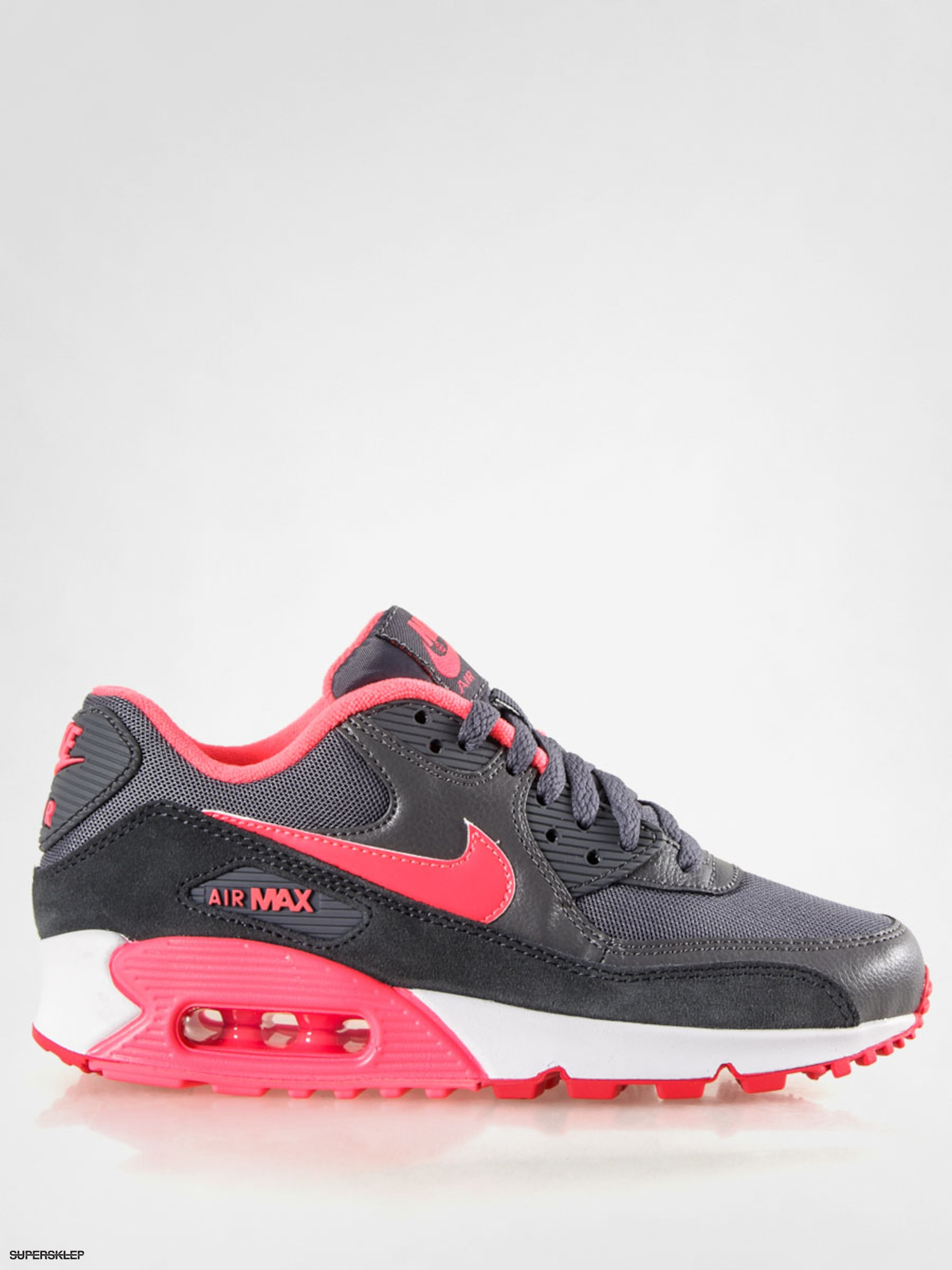 Buty Nike Air Max 90 Essential Wmn (dk gry/hyper pnch/actn red anth)