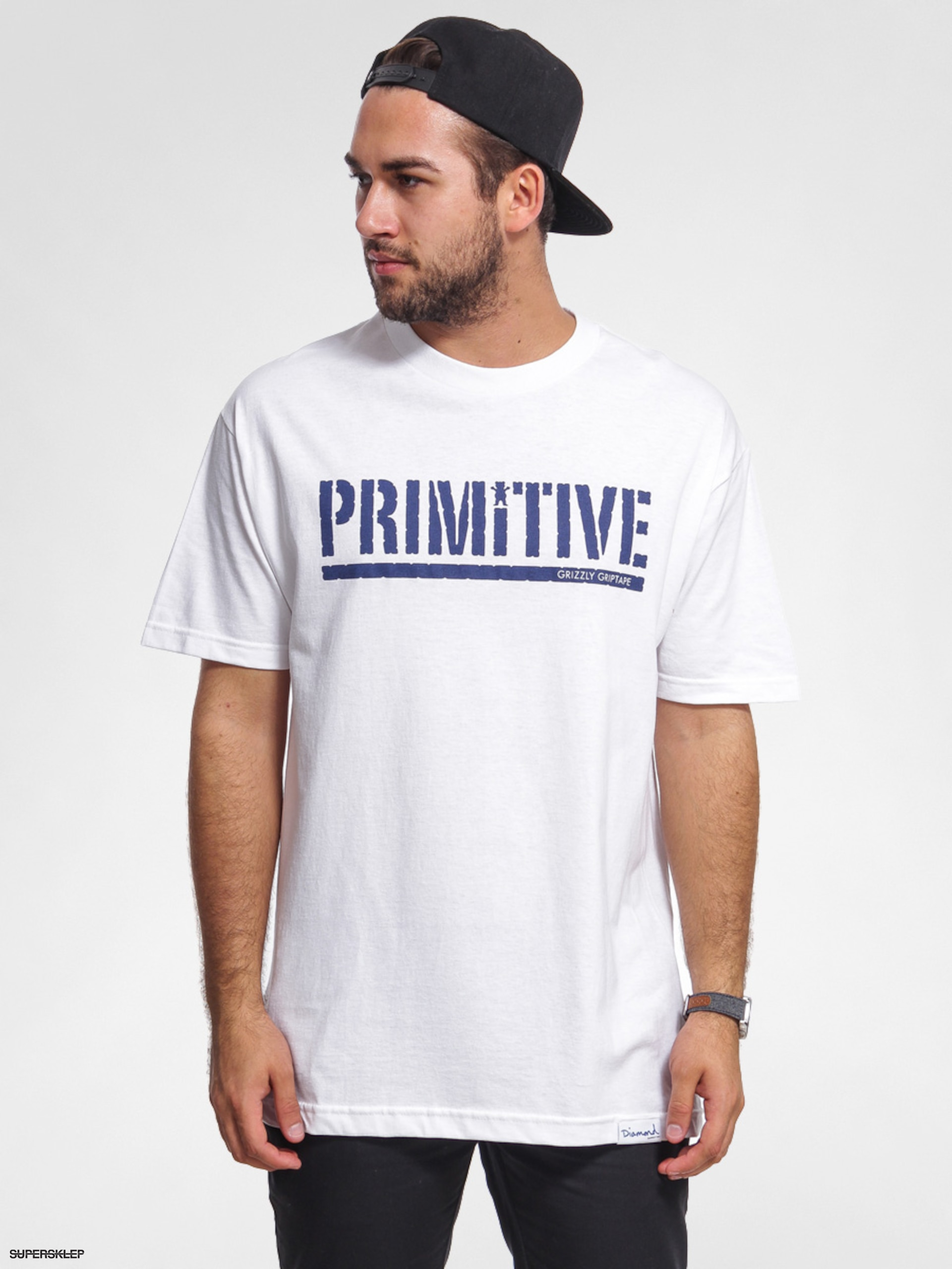 T-shirt Primitive Grizzly Gripped (white)