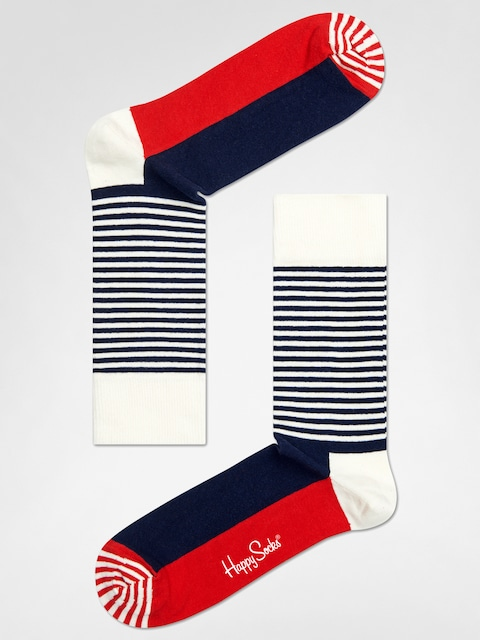Skarpetki Happy Socks Stripe Half (navy/red/white)
