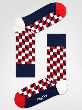 Skarpetki Happy Socks Filled Optic (navy/red/white)