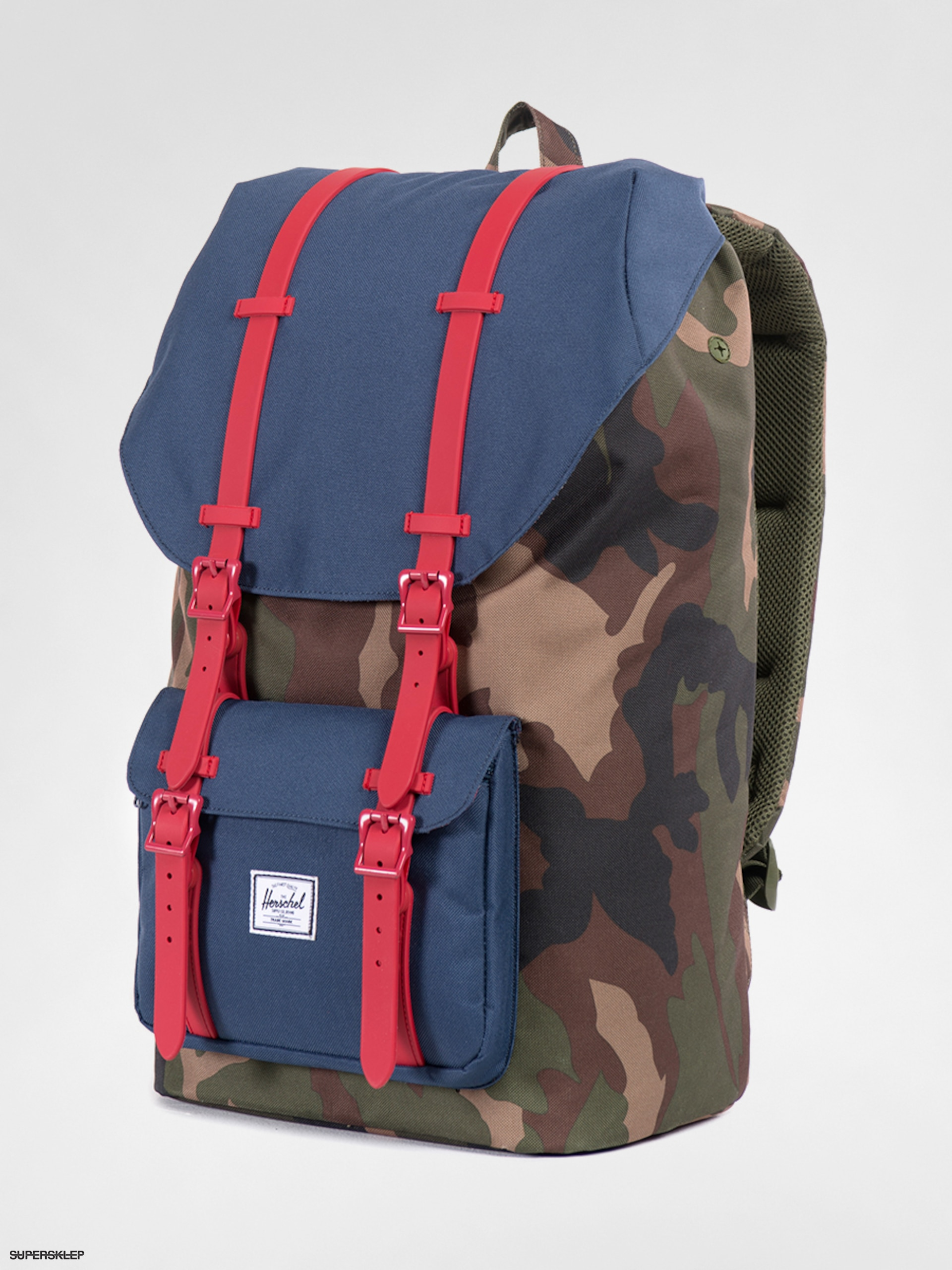 Plecak Herschel Supply Co. Little America (woodland camo/navy/red rubber)