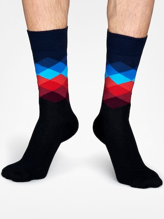 Skarpetki Happy Socks Faded Diamond (black/navy/blue/red)