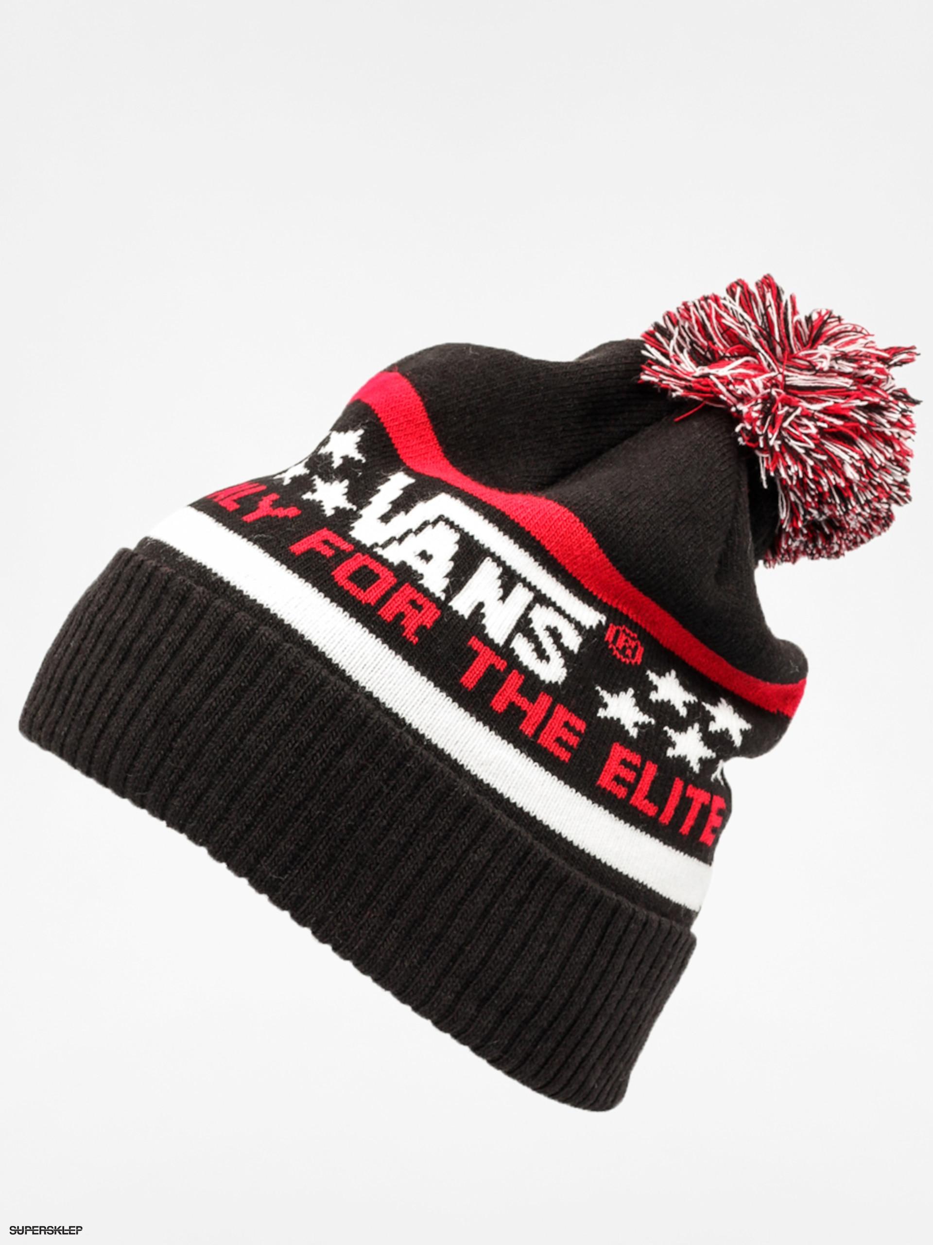 6e136e750d Czapka zimowa Vans Elite Beanie (black jester red)