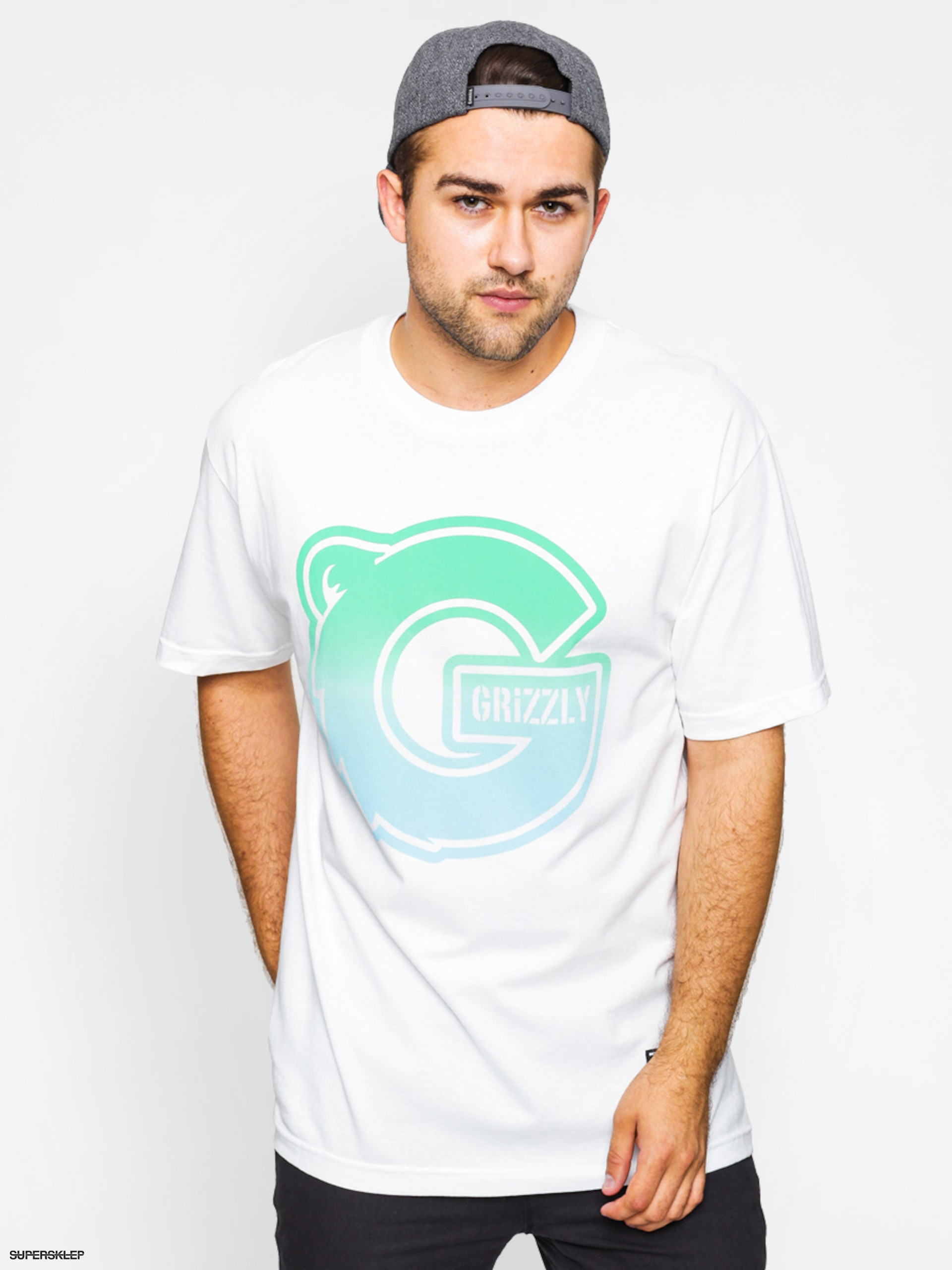 T-shirt Grizzly Griptape Sunset Woods Big G Logo Tee (white)