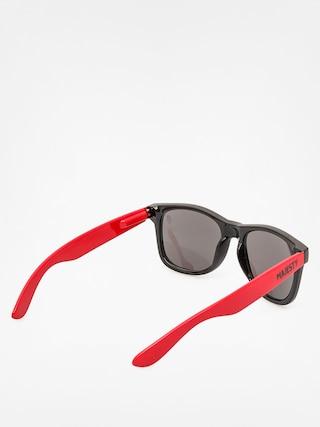 Okulary przeciwsłoneczne Majesty Shades L (black/red black lenses)