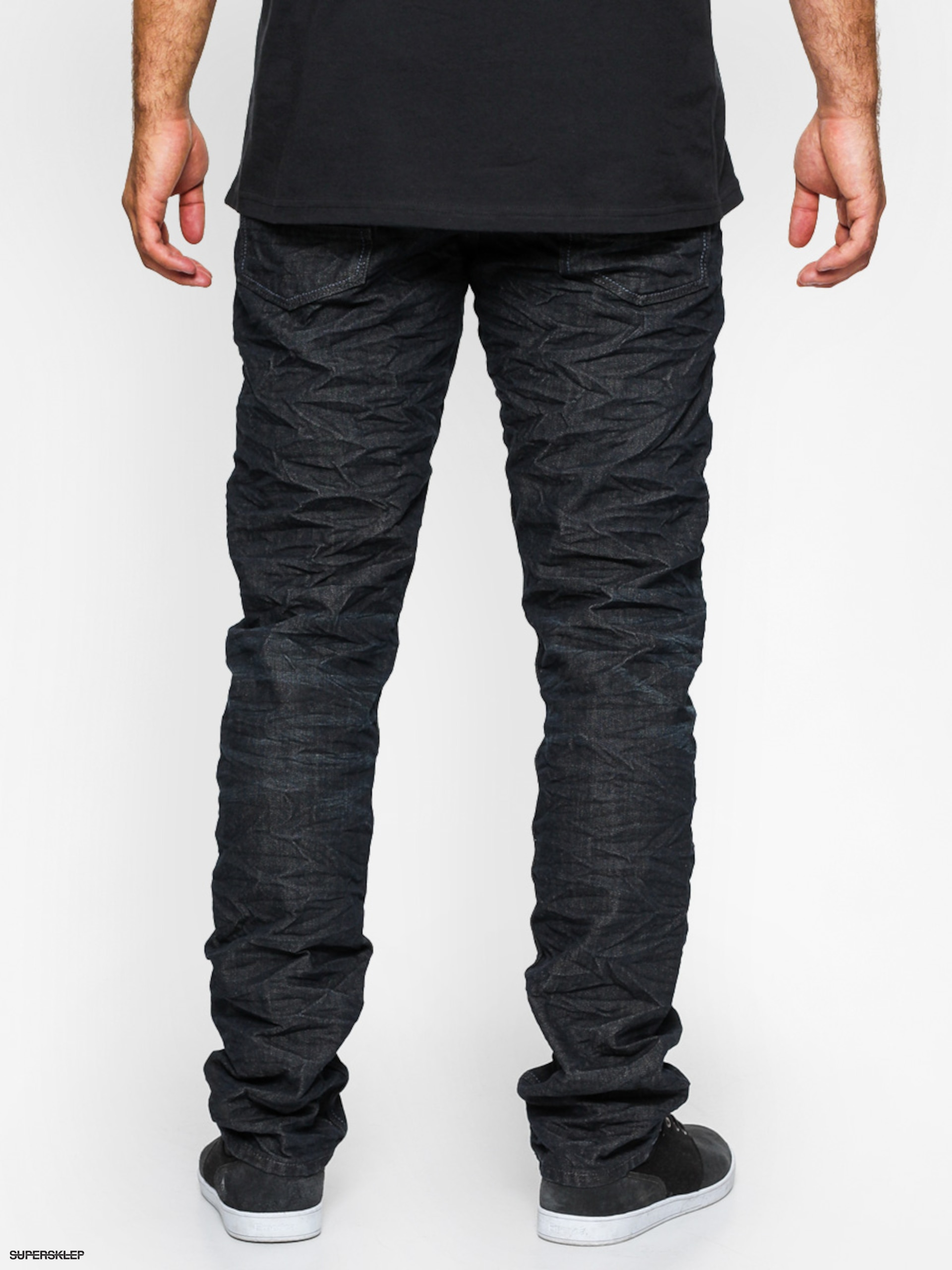Spodnie Quiksilver Krackcrumpl Straight Tapered (heather black)