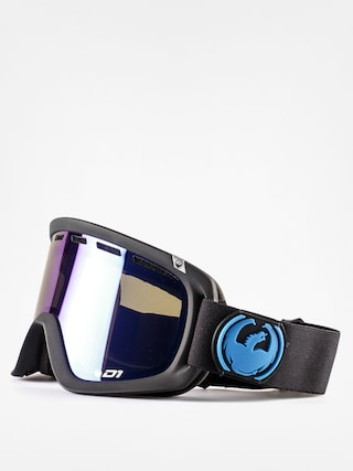 Gogle Dragon D1 Six (jet/dark smoke blue+yell/red ion)