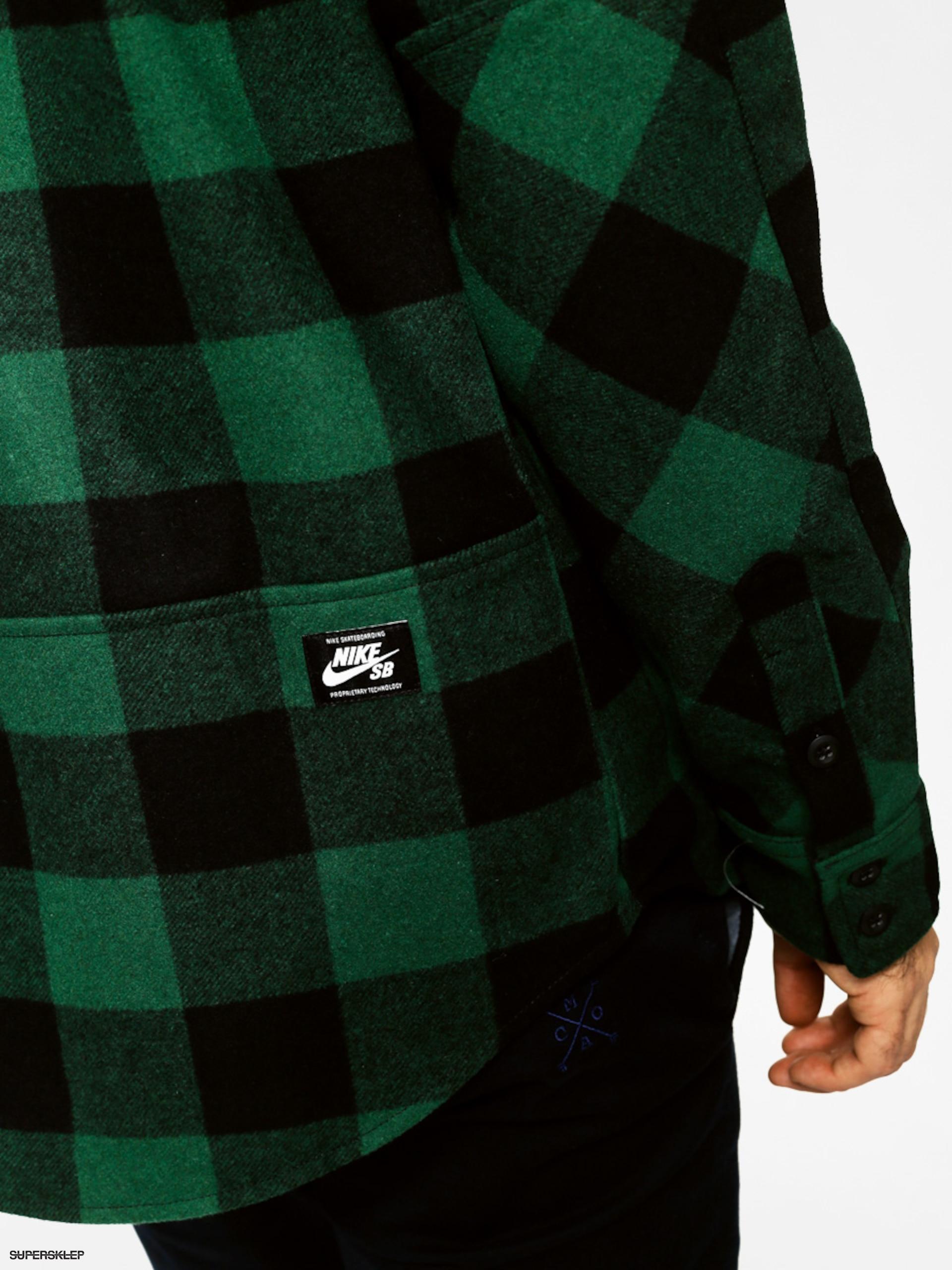 gorąca sprzedaż online buty sportowe najlepiej sprzedający się Koszula Nike Holgate Wool LS (green)