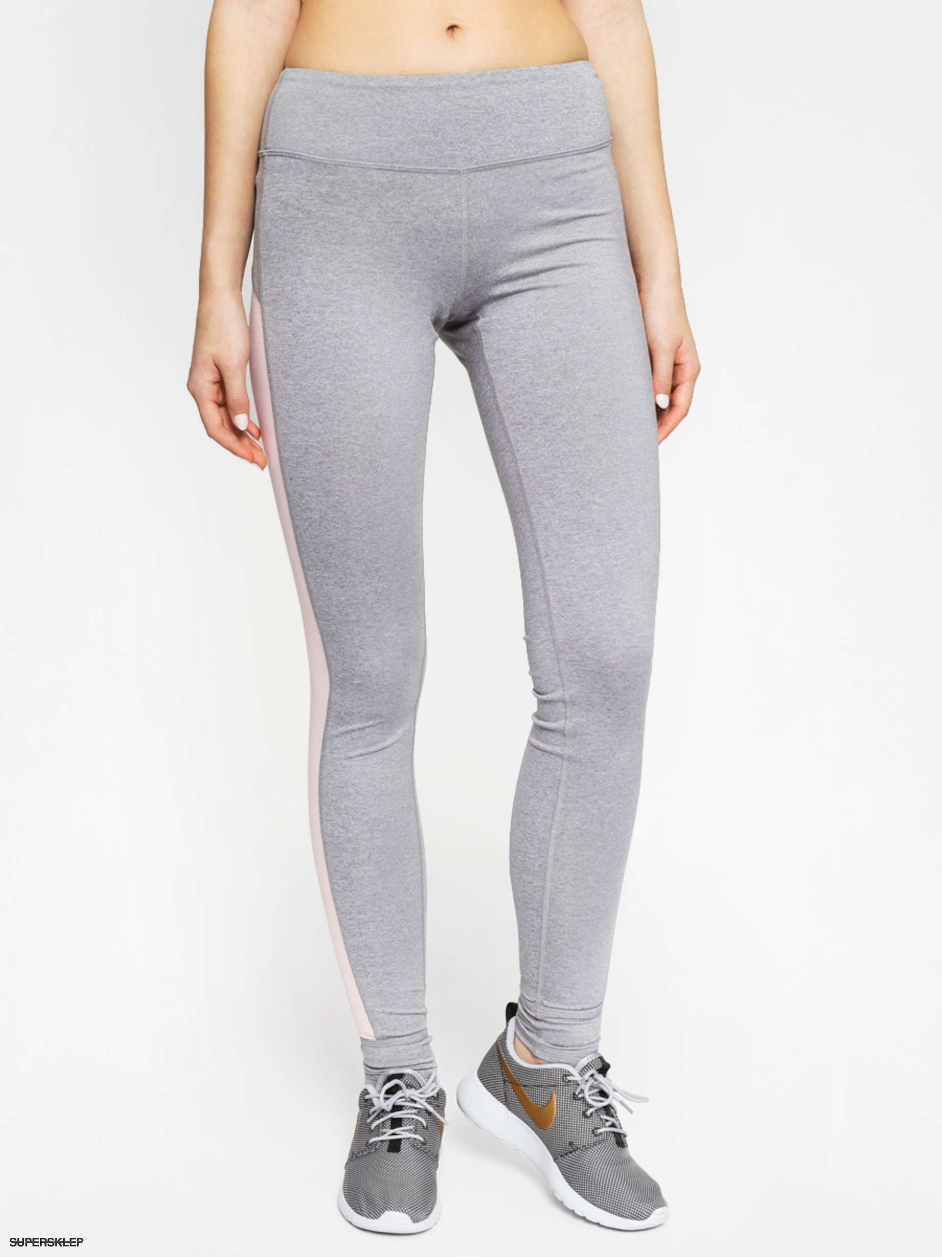 Legginsy Roxy Breath Less Pant Wmn (grey heather/coral)