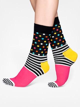 Skarpetki Happy Socks Stripes Dots (black/pink/crem/yellow)
