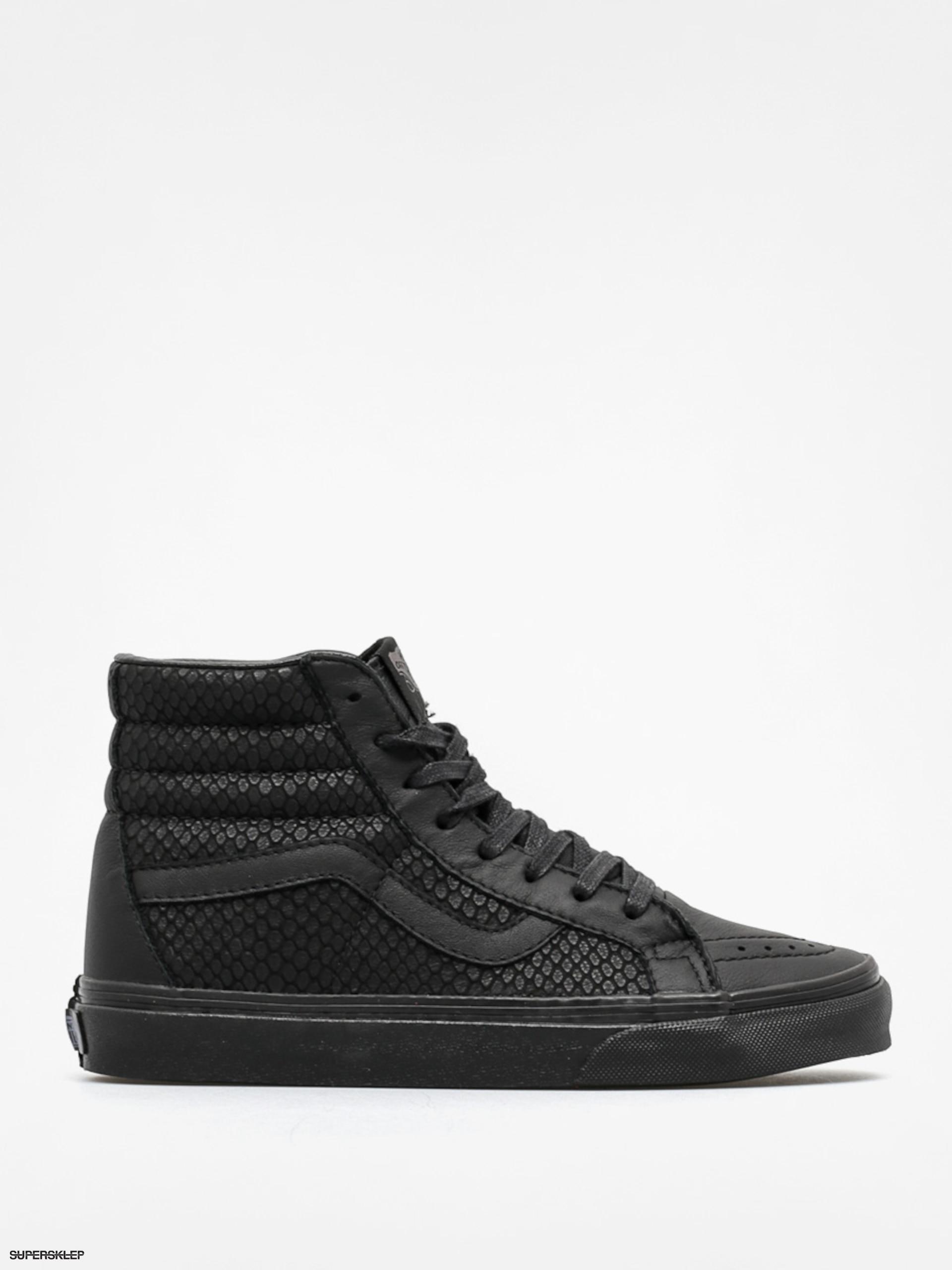 Vans SK8 HI Sneakersy wysokie black Skóra i materiał