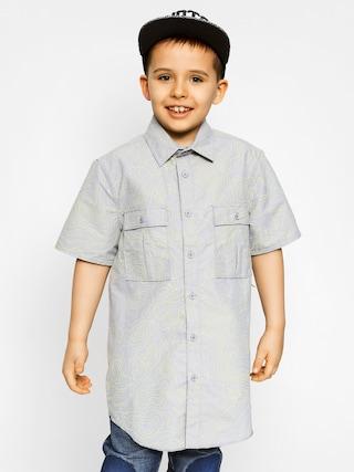 Dziecięca koszula Etnies Skoppe Woven SS (gry/lt gry)