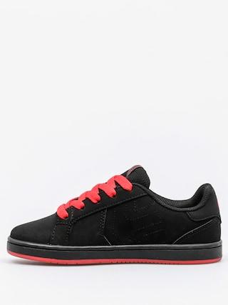 Buty dziecięce Etnies Fader LS (black/black/red)
