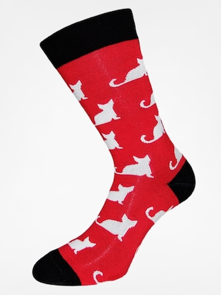 Skarpetki Cup Of Sox All My Friends Are Dead A (red/white cat)