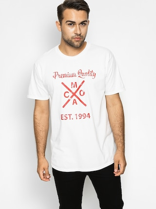 T-shirt Malita Logo (white/burgundy)