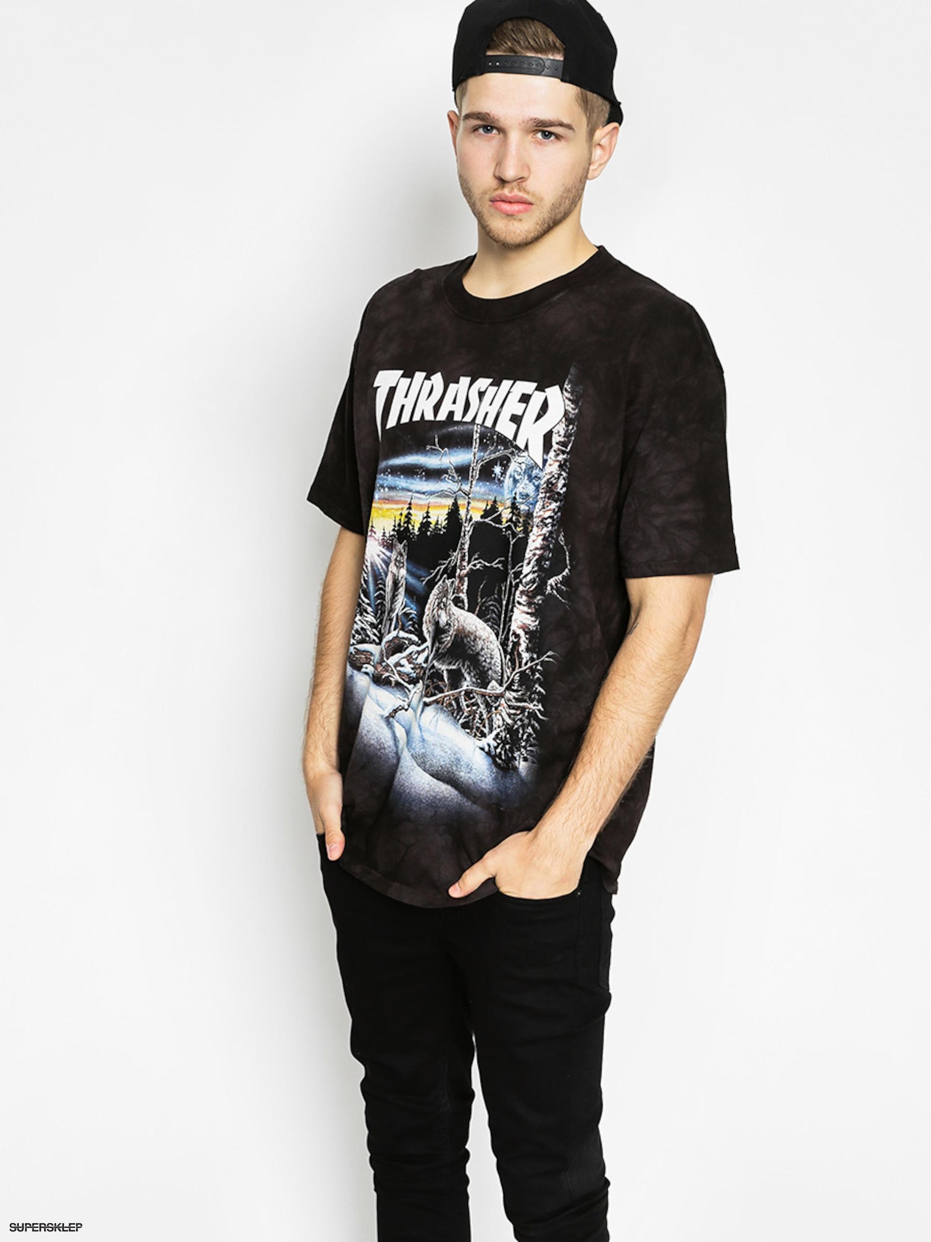 T-shirt Thrasher 13 Wolves (black tie dye)