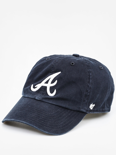 Czapka z daszkiem 47 Brand Atlanta Braves ZD (washed black)