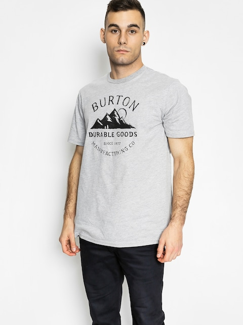 T-shirt Burton Overlook Slim (gray heather)