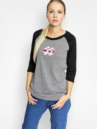 Koszulka Stussy Ss Box Stripe Raglen Wmn (grey heather)