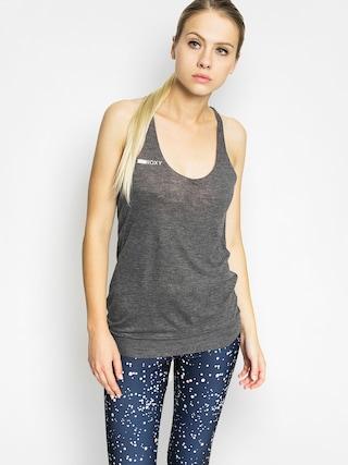 Koszulka aktywna Roxy Karma Cosa Wmn (charcoal heather)