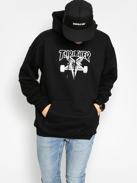 Bluza z kapturem Thrasher Skate Goat HD (black/white)