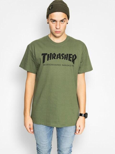 T-shirt Thrasher Skate Mag (military green)