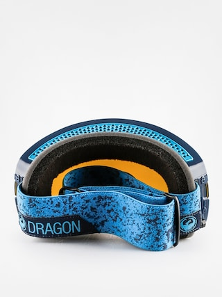 Gogle Dragon NFX2 (stone blue/blue steel + yellow red ion)