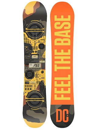 Deska snowboardowa DC Pbj (orange yellow/yellow moro)