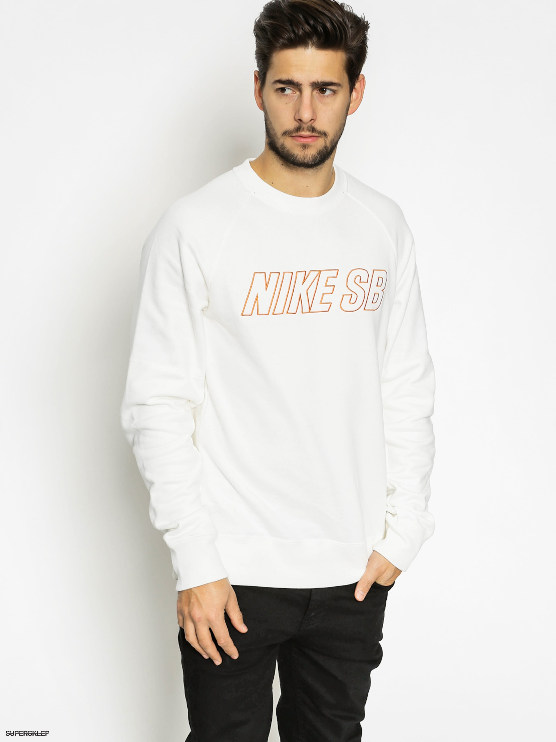 Bluza Nike SB Everett Reveal (white/orange)