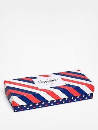 Skarpetki Happy Socks Giftbox 4pk (navy/white/red)
