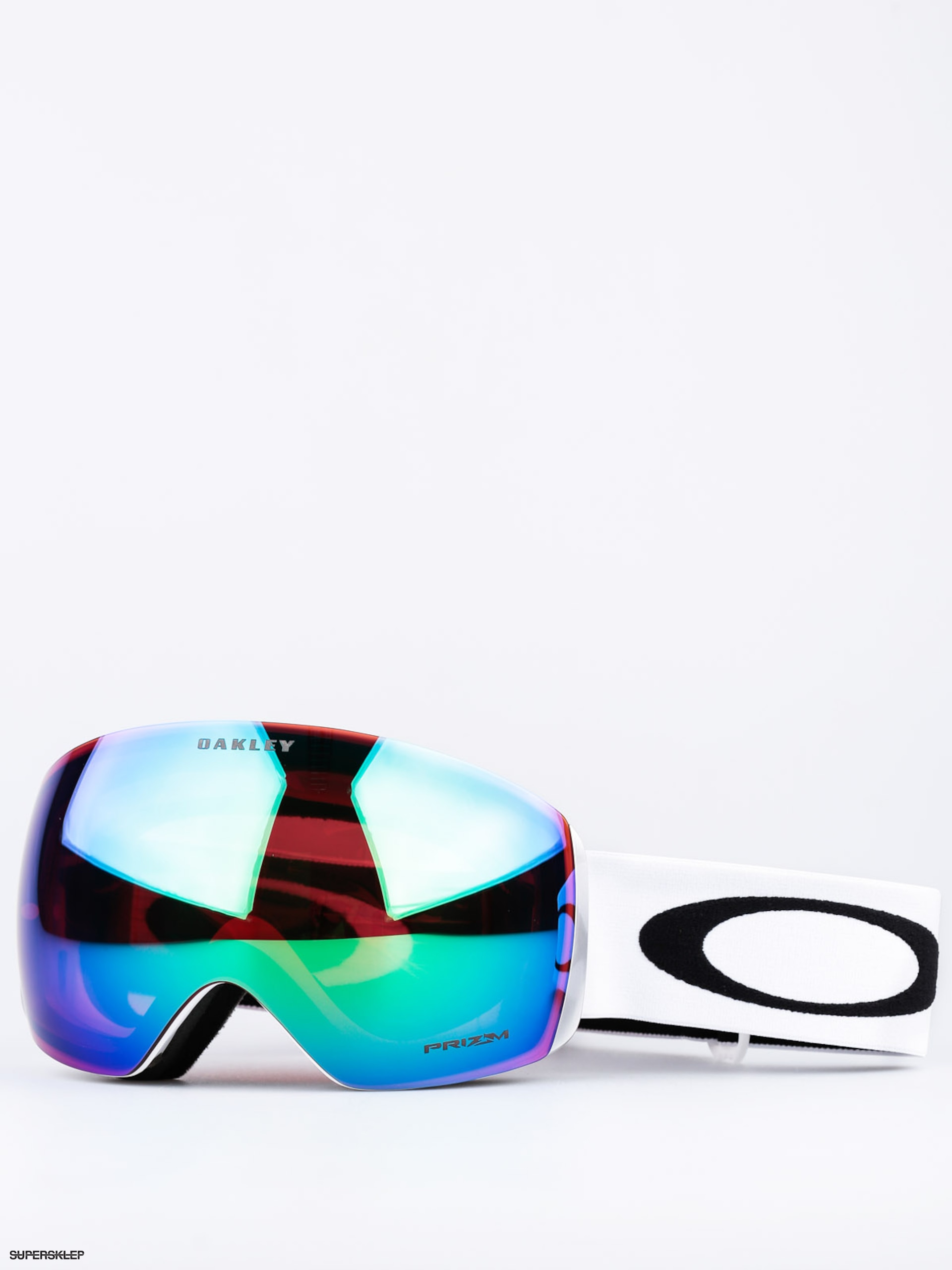 Gogle Oakley Flight Deck (matte white w/prizm jade)