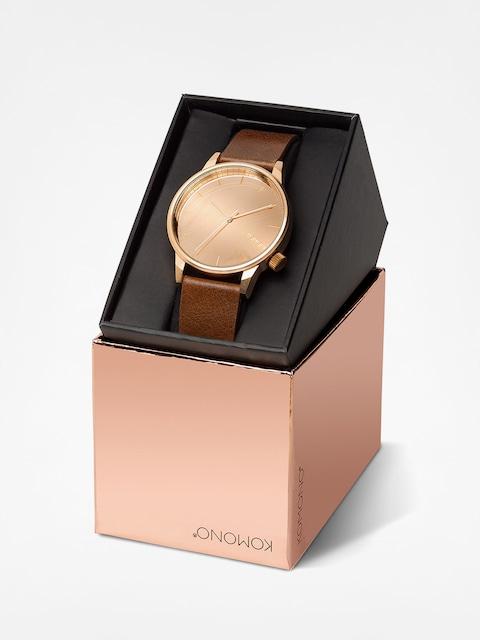 Zegarek Komono Winston Mirror (rose/gold/cognac)