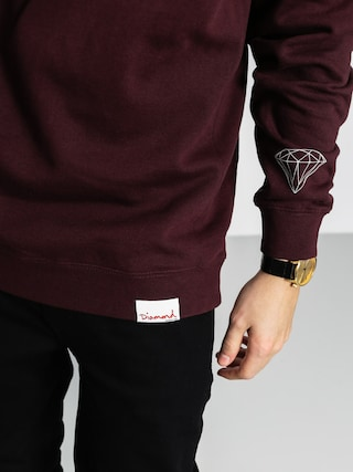 Bluza Diamond Supply Co. Radiant Box Logo (burgundy)
