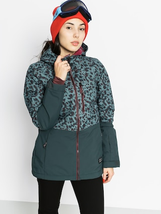 Kurtka snowboardowa O'Neill Single Wmn (green aop w/red)