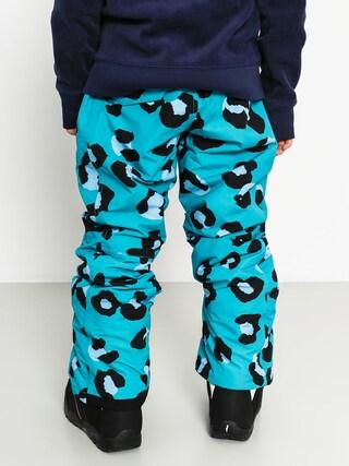 Dziecięce spodnie snowboardowe Burton Sweetart (evrgld spr leopard)