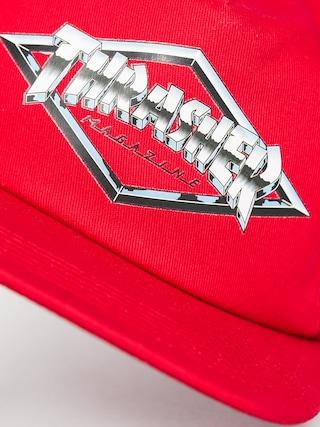 Czapka z daszkiem Thrasher Diamond Emblem Trucker ZD (red)